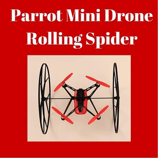 Parrot mini drone rolling spider