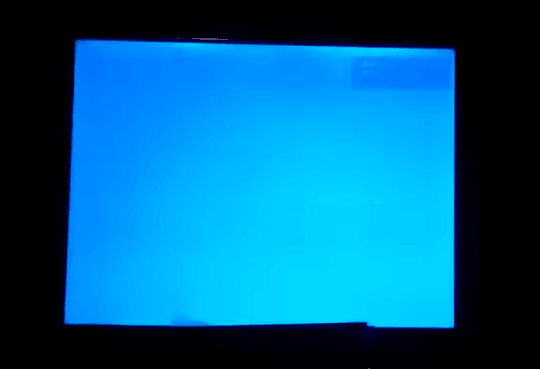 blue screen on FPV monitor